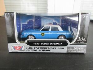 1:43 MotorMax Dodge Diplomat NYPD New York City Police 1983 Plymouth Gran Fury