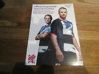 Official Programme - Team GB Football at London 2012 Olympic Games 28/29 July