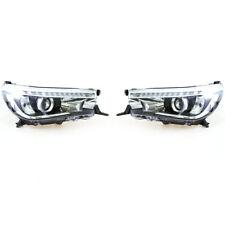 For 2015-18 Toyota Hilux Revo SR5 M70 M80 Truck Head Light LED DRL Projectors x2