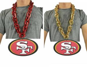 San Francisco 49ers NFL PICK COLOR Big Rope Fan Chain Necklace 3D Foam Magnet