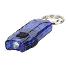 Rechargeable 2 Modes Mini LED Flashlight Lamp USB Torch Light With Keychain New