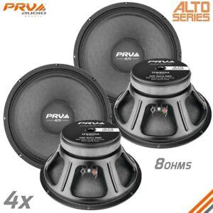 """4x PRV Audio 12W800A Midrange ALTO Car Audio 12"""" Woofer Speakers 8 Ohms PRO 800W"""