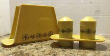 Eagle Plastic Salt And Pepper Shaker Napkin Holder Set Vintage