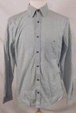 LACOSTE Striped long sleeve button front shirt SIZE 40 US SMALL MODERN FIT LOGO