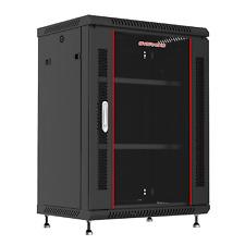 "15U 24"" Deep Wall Mount It Network Server Rack Cabinet Enclosure. Accessories!"