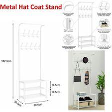 Metal Hat Coat Stand Clothes Shoes Rack Umbrella Bag Steel Stand Hanger W/ Hooks