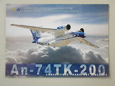 2000'S DOCUMENT 1 PAGE RECTO VERSO ANTONOV AN-74TK-200 TRANSPORT AIRCRAFT