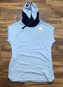 Adidas Sleeveless Jacket Hoodie Hooded Zip Vest Basketball Men's Size M