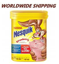 Nestle Nesquik Strawberry Flavored Powder 8 Oz WORLDWIDE SHIPPING