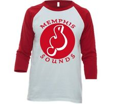 Memphis Sounds Aba Basketball 3/4 Sleeve Raglan Tee Shirt With Logo