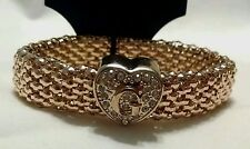 NEW GUESS G Rhinestone Gold Heart Elastic Stretchable Bracelet Orig $40