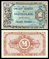 Germany WWII Allied Military Currency 10 Mark 1944