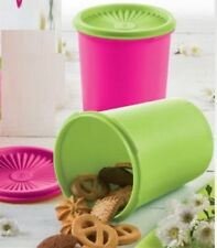 Tupperware NEW Pink & Green  Servalier Canister Set