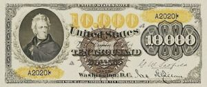 United States Note $500 - $10000, 1878 Large Seal, Fr.185b - Fr.189 REPRODUCTION