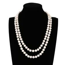 Women's Classic Long Style White Imitation Turquoise necklace Jewelry