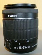 USED DSLR CANON EF-S 18-55mm 1:3.5-5.6 IS STM, (TESTED to work)