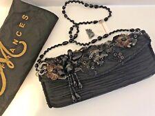 Mary Frances Black Beaded Evening Bag New