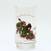 VINTAGE 1982 Holly Hobbie COCA COLA Drinking Glass 'Holly and Robby sledding'