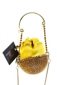 Rosantica Womens Baby Ghizlan Crystal Mini Bag Gold