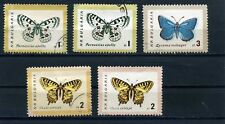 Bulgaria five stamps  Butterflies and Moths used