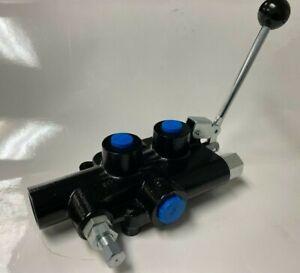 """Logsplitter detent valve, 25 GPM, 3/4"""" NPT Inlet/Outlet, 1/2"""" NPT Work ports"""