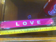 Love Pink Snap Bracelet High Quality Fold Plastic Wristband