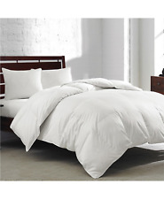 Royal Luxe White Goose Feather And Down Cotton King Comforter White $200