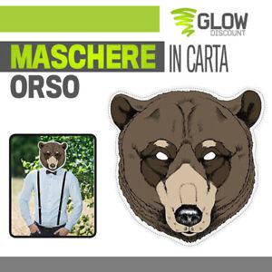 PartyHop Maschera di Peluche Orso Bruno Maschere per Animale in Lattice Realistico per Halloween Carnevale Festa in Costume Parata