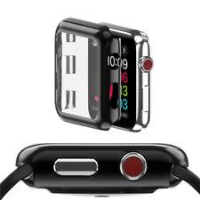 Hard Front Cover für Apple Watch Serie 3 42mm Smartwatch Uhr Schwarz