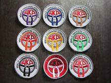 More details for 9 world kickboxing association wka sport cloth patches badges (l6k)