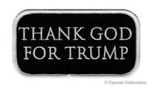THANK GOD FOR DONALD TRUMP IRON-ON PATCH embroidered PRESIDENT MAGA Republican
