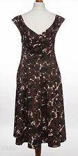 Cotton Blend Short Sleeve Formal Floral Dresses for Women