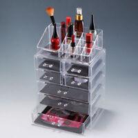 Clear  Jewelry Organizer Acrylic Makeup Brush Box Display Holder Storage Drawer