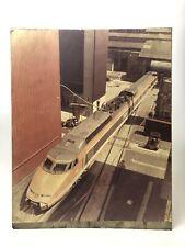 Ancien Panneau Affiche TGV livrée Orange / Rame 07 / Locomotive Vintage