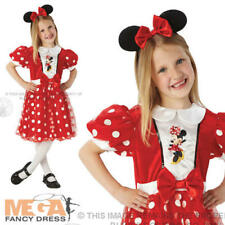 Minnie Mouse Girls Fancy Dress Disney Animal Kids Book Day Costume Outfit + Ears