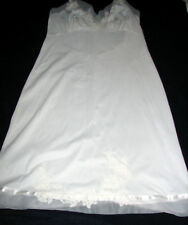 Vintage Van Raalte White Nylon Full Slip Lace Trim 36 Made in USA