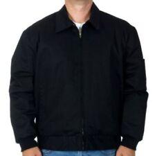Mens Work Mechanic Jacket Style Zip Jacket Black Work Wear Brand New
