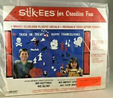 Stik-EES Halloween/Thanksgiving  Reuseable Clings Sticks On Any Surface New