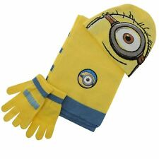 MINIONS DESPICABLE ME:2015 WINTER SET,HAT,SCARF,GLOVES,ONE SIZE,NEW WITH TAGS
