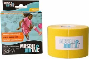 Muscle Aid Tape Kinesiology Tape - Yellow - 5 cm x 5 m