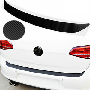 Universal 4D Carbon Fiber Car Rear Bumper Trunk Tail Lip Protect Decal Sticker