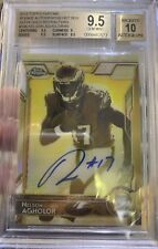 Topps Chrome 2015 13/50 Nelson Agholor Gold Sepia Refractor Auto BGS 9.5