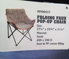 "New Outdoor Adventure Folding Faux Pop-Up Chair 27 1/2"" X 23 3/4"" X 31 1/2"""