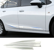 4x For Chevrolet Cruze 2017-2018 stainless Door Body Side Molding Cover Trim