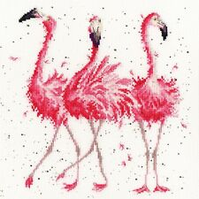 BOTHY THREADS PINK LADIES FLAMINGOS COUNTED CROSS STITCH KIT by Hannah Dale