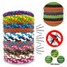 1/5/10xAnti Mosquito Pest Insect Repellent Bracelet Leather Wrist Band Wristband
