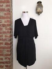 New WHBM Size M Black Tunic Mini Dress Stretchy Short Dolan Sleeve Jersey Top