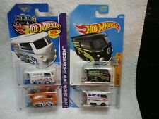 Hot Wheels Volkswagen Kool Kombi Bus White Orange Black Lot of 4