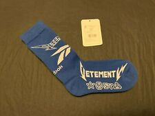 VETEMENTS Socks Logo Jacquard Blue, US5-8