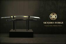 TENKU NEW RONIN BLACK JAPANESE NIHONTO SHINKEN FOLDED KATANA SWORD KENJUTSU